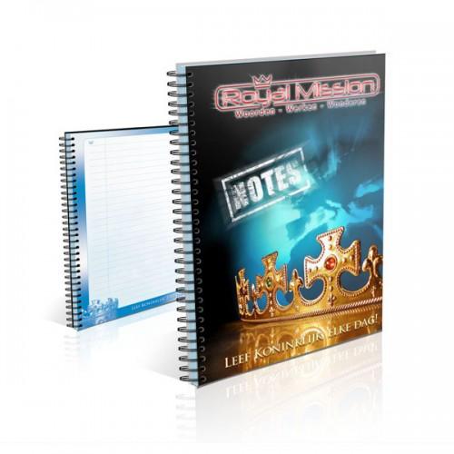 notitieboek - Leef koninklijk -royal mission